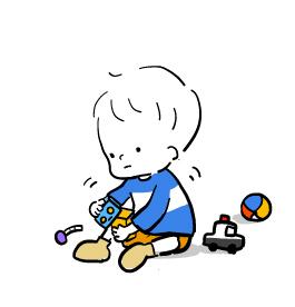 遊ぶ男の子のイラスト